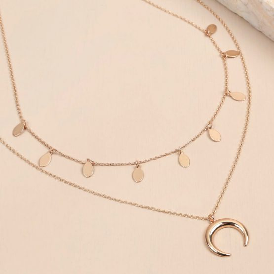 64c08b9b6 lisa-angel-rose-gold-double-layer-horn-necklace-